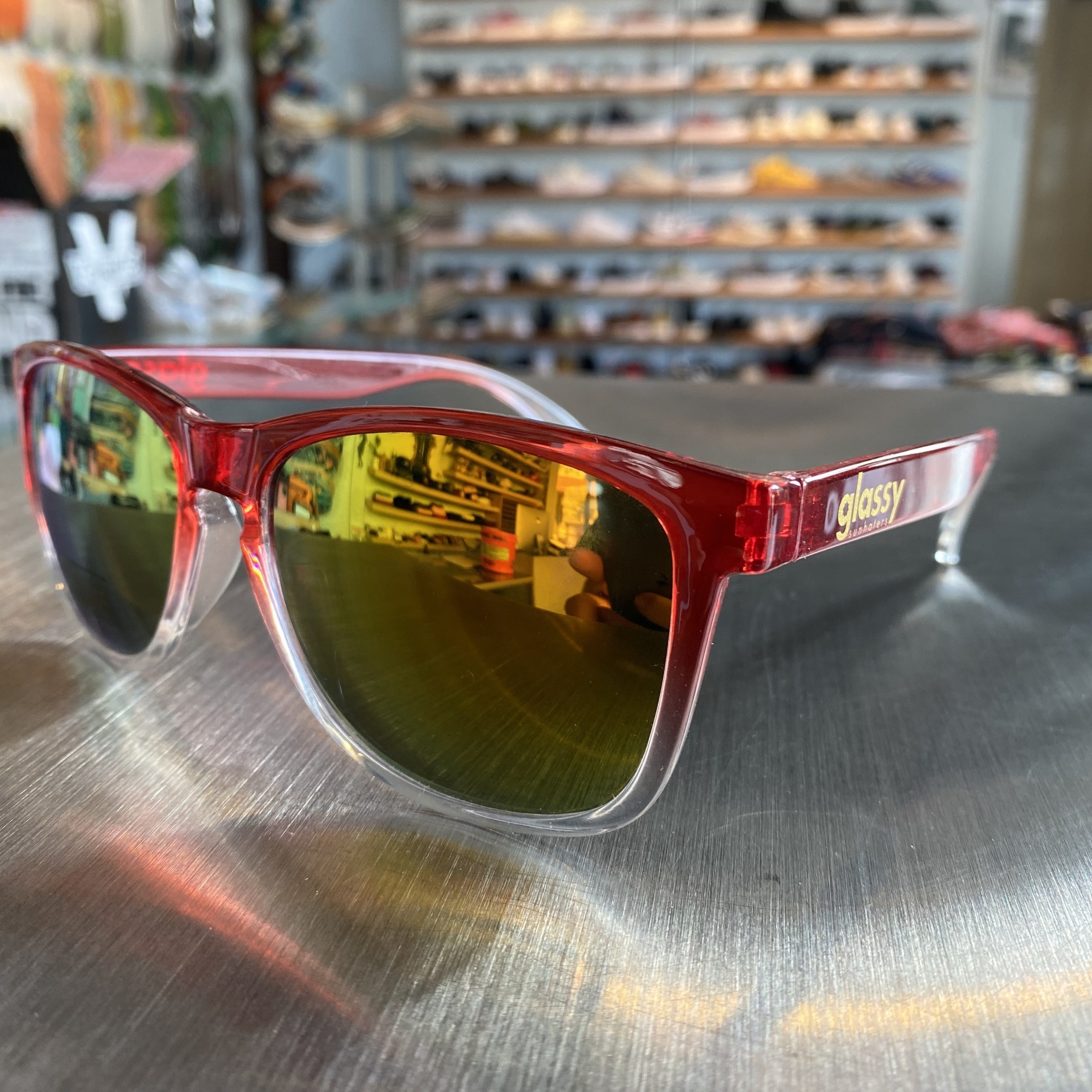 Glassy Sunglasses Deric Trns Red/Red