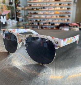 Glassy Sunglasses Shredder Wht Floral