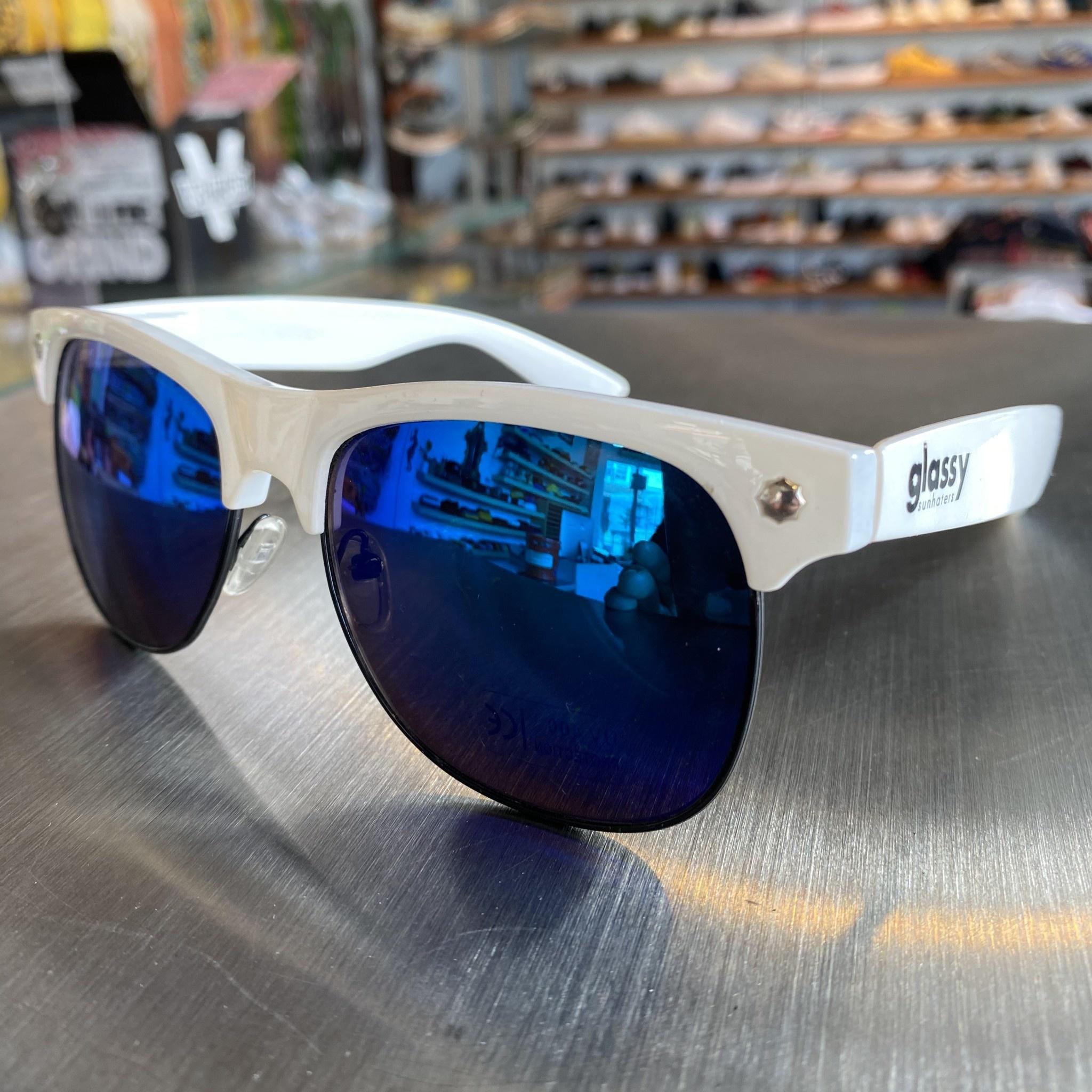 Glassy Sunglasses Shredder Wht/Blue
