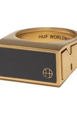 HUF Circle H Stash Ring Gold