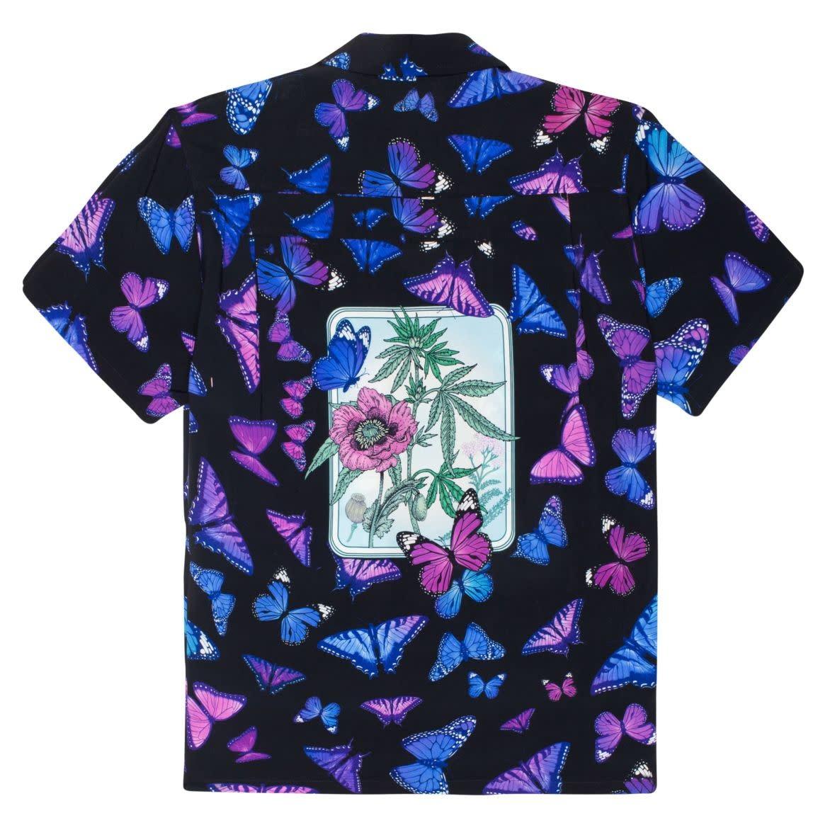 HUF Papillon Woven Shirt Black