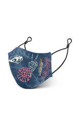 Primitive Peace Mask Blue