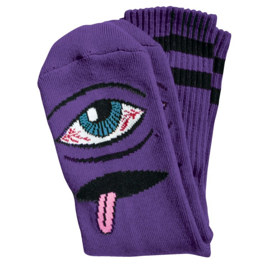 Toy Machine Bloodshot Eye Sock Purple
