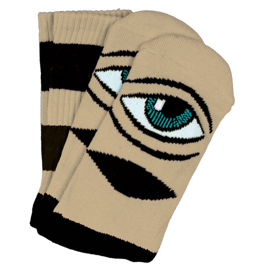 Toy Machine Sect Eye Big Stripe Camel Sock