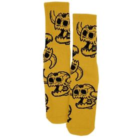 Toy Machine Monster Skull Mustard Sock