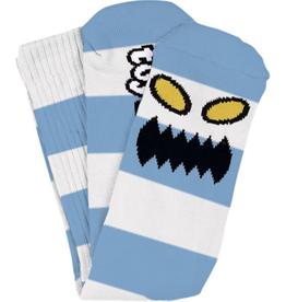 Toy Machine Monster Big Stripe Light Blue Sock