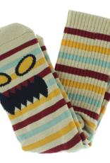 Toy Machine Monster Face Mini Stripes Brown Sock