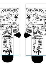 Stance Socks Aloha Brah White Large