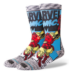 Stance Socks Iron Man Comic Grey Large