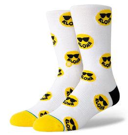 Stance Socks Aloha Smiles White Medium