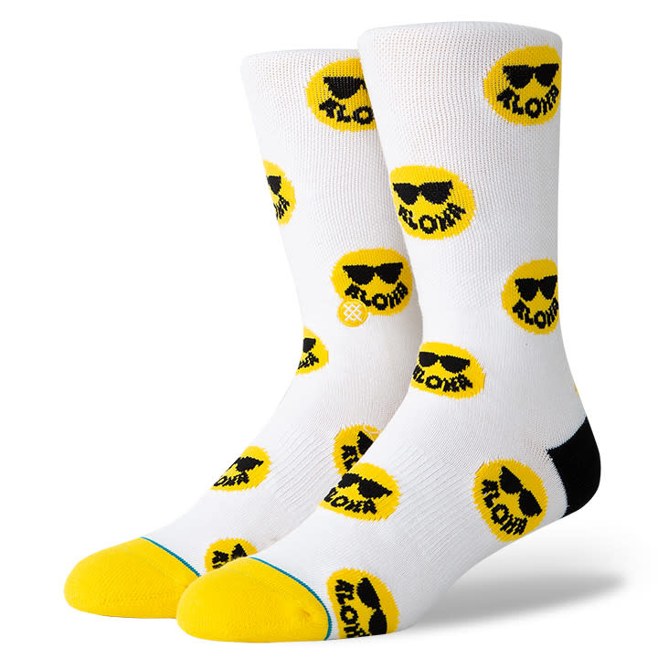 Stance Socks Aloha Smiles White Medium