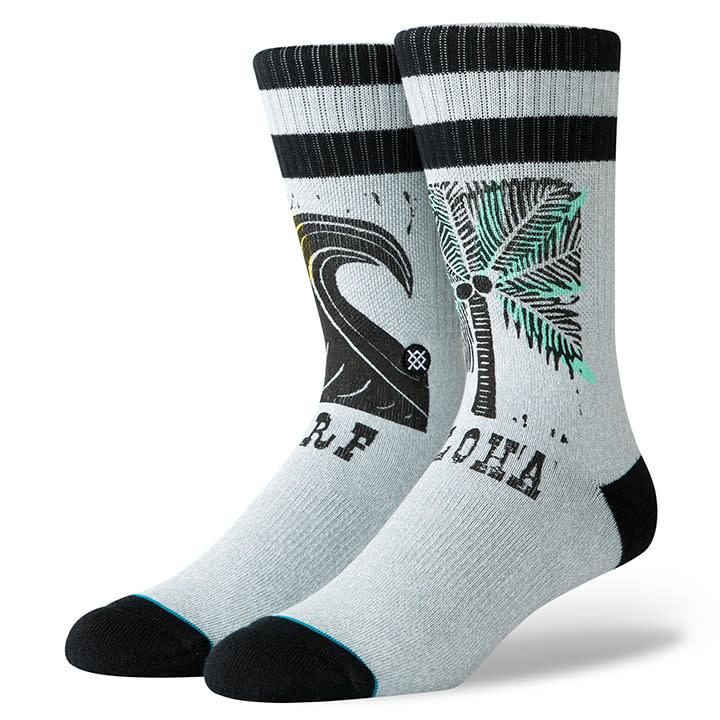 Stance Socks Aloha Surf Oblow Grey Large