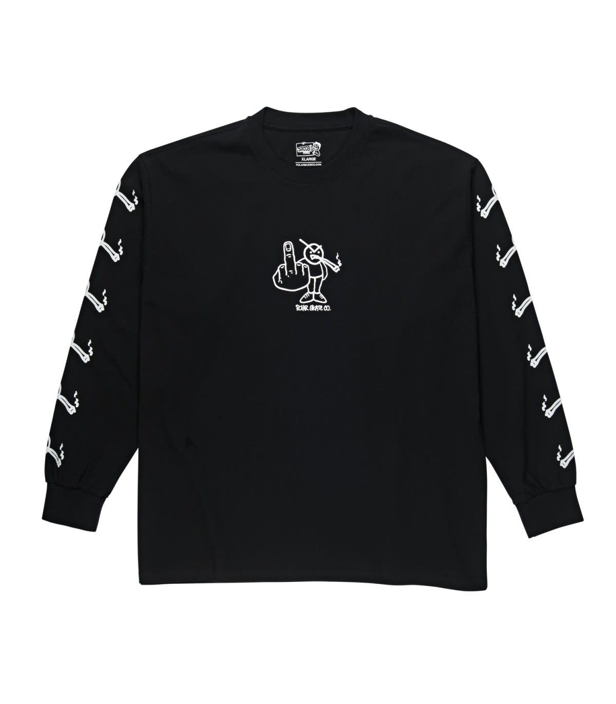 Polar Skate Co. Angry Stoner L/S Black Medium