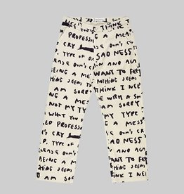 Polar Skate Co. 40's Pants Sad Notes Ivory