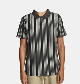 RVCA Highway Stripe Polo Green/Black