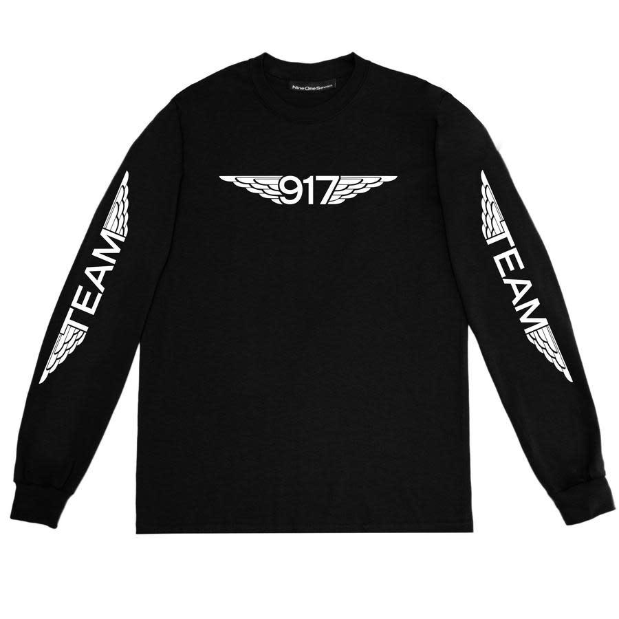 Call Me 917 Team Wings L/S Black