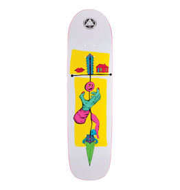 """Welcome Skateboards Obelus on Son of Planchette 8.38"""" White/Yellow"""