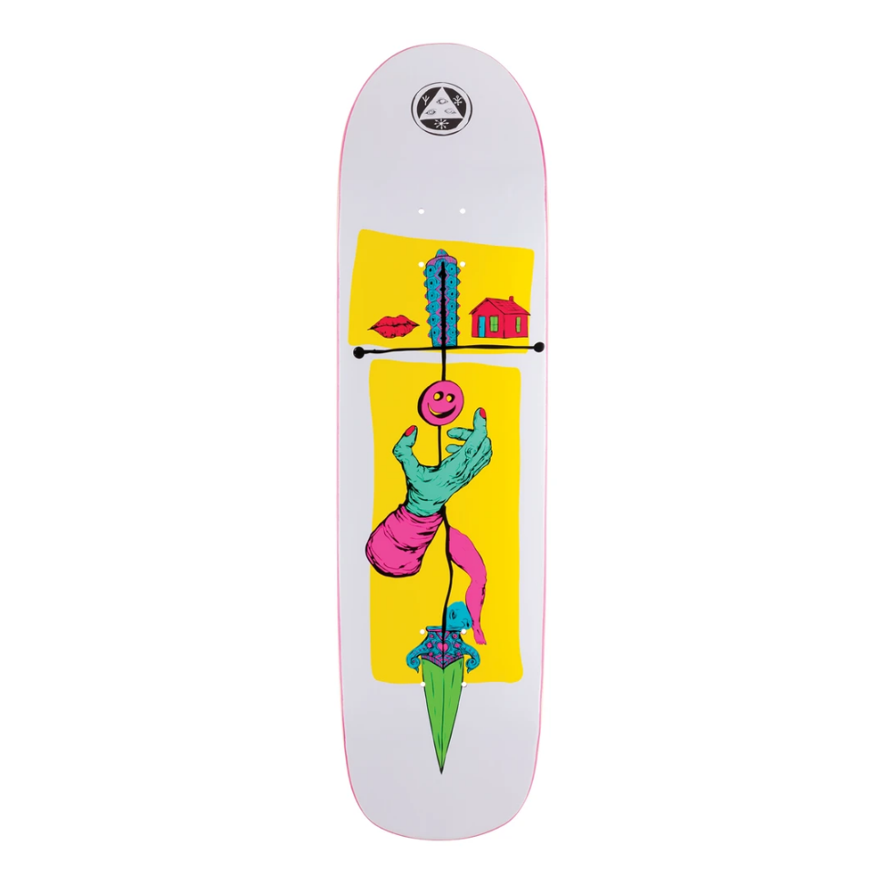 "Welcome Skateboards Obelus on Son of Planchette 8.38"" White/Yellow"