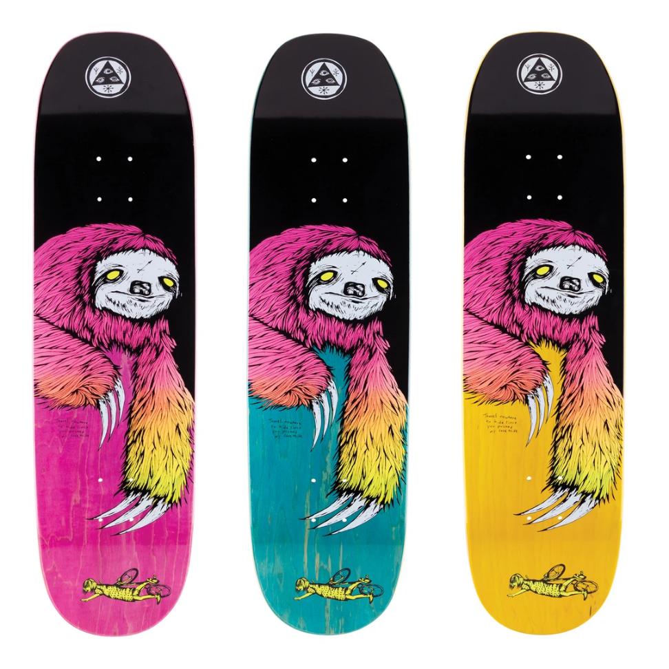 "Welcome Skateboards Sloth on Moontrimmer 2.0 8.5"" Black/Surf Fade"