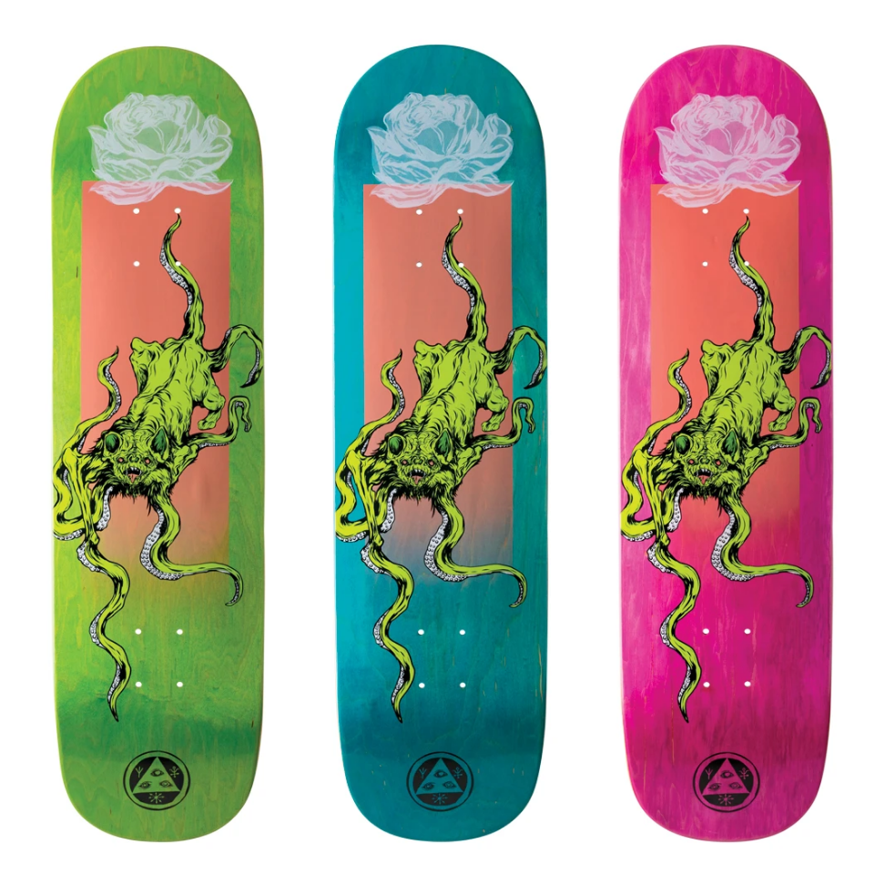 """Welcome Skateboards Bactocat on Big Bunyip 8.5"""" Various Stains"""