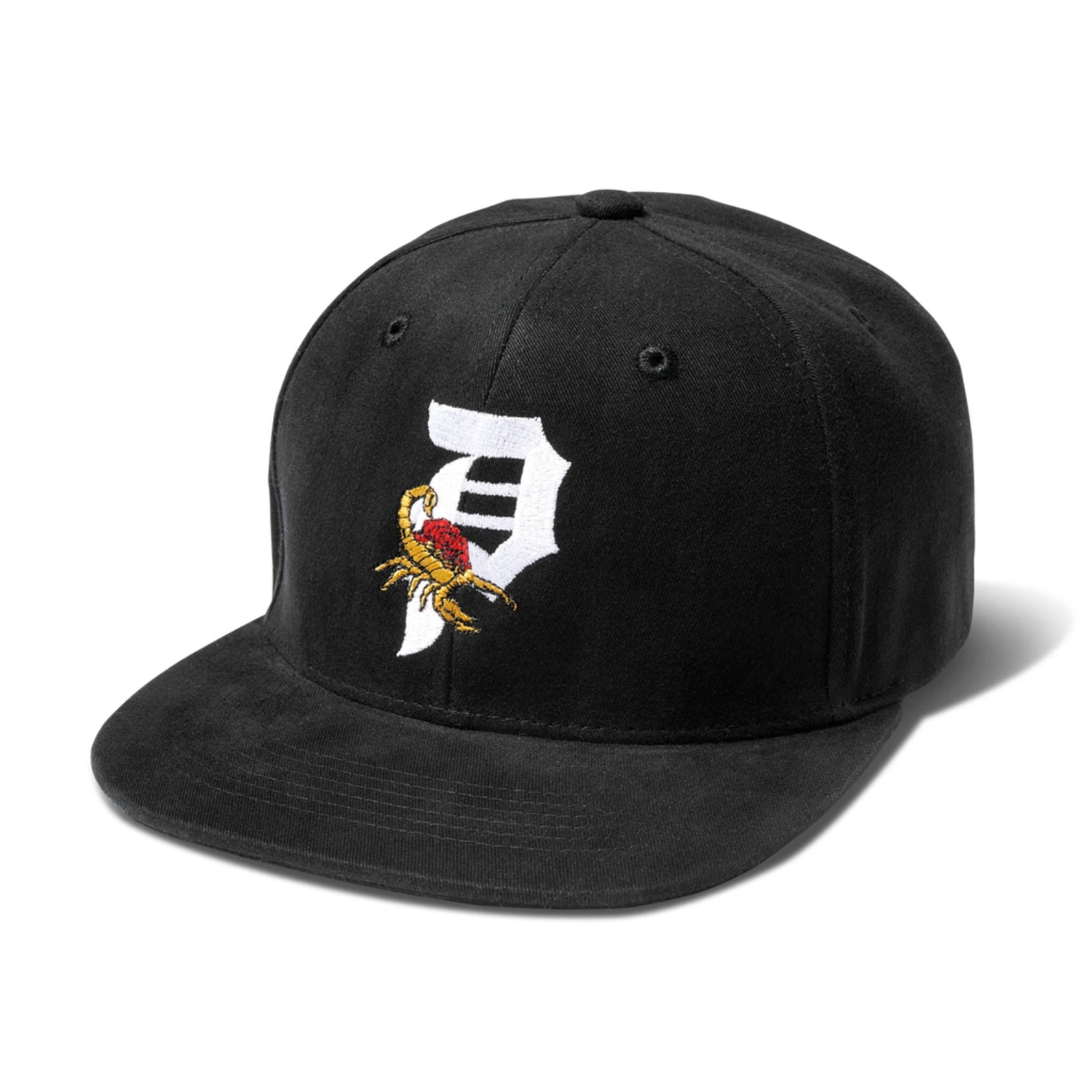 Primitive Scorpion Rose Black Snapback