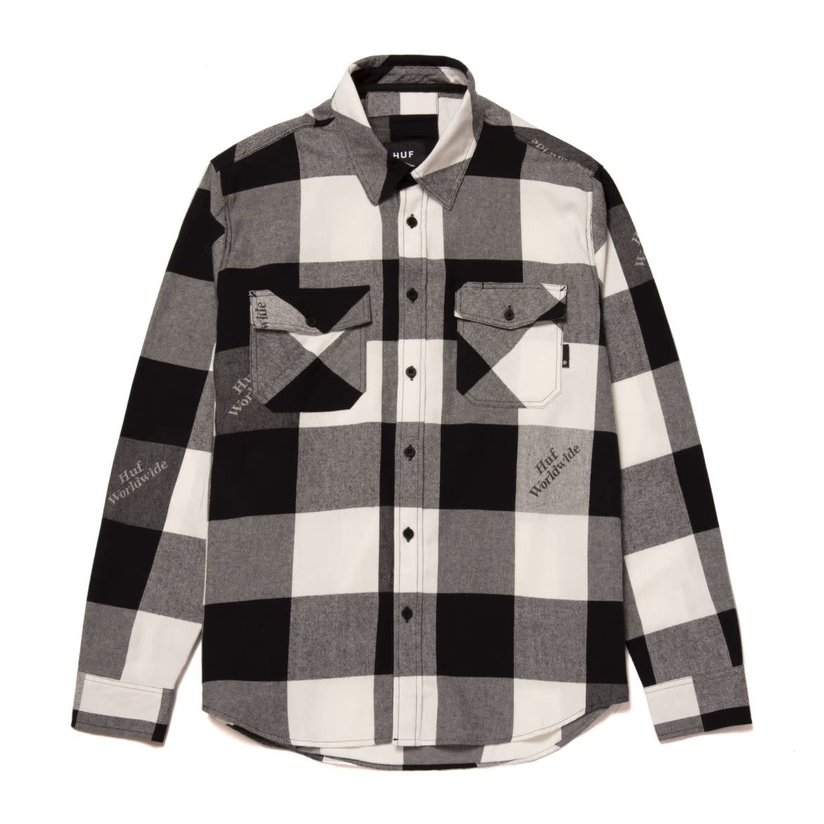 HUF Heights Flannel L/S Black