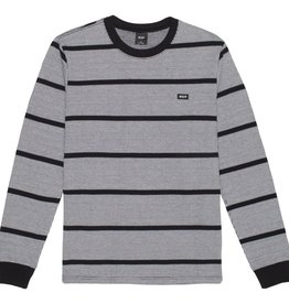 HUF Houndstooth Stripe L/S Knit Black