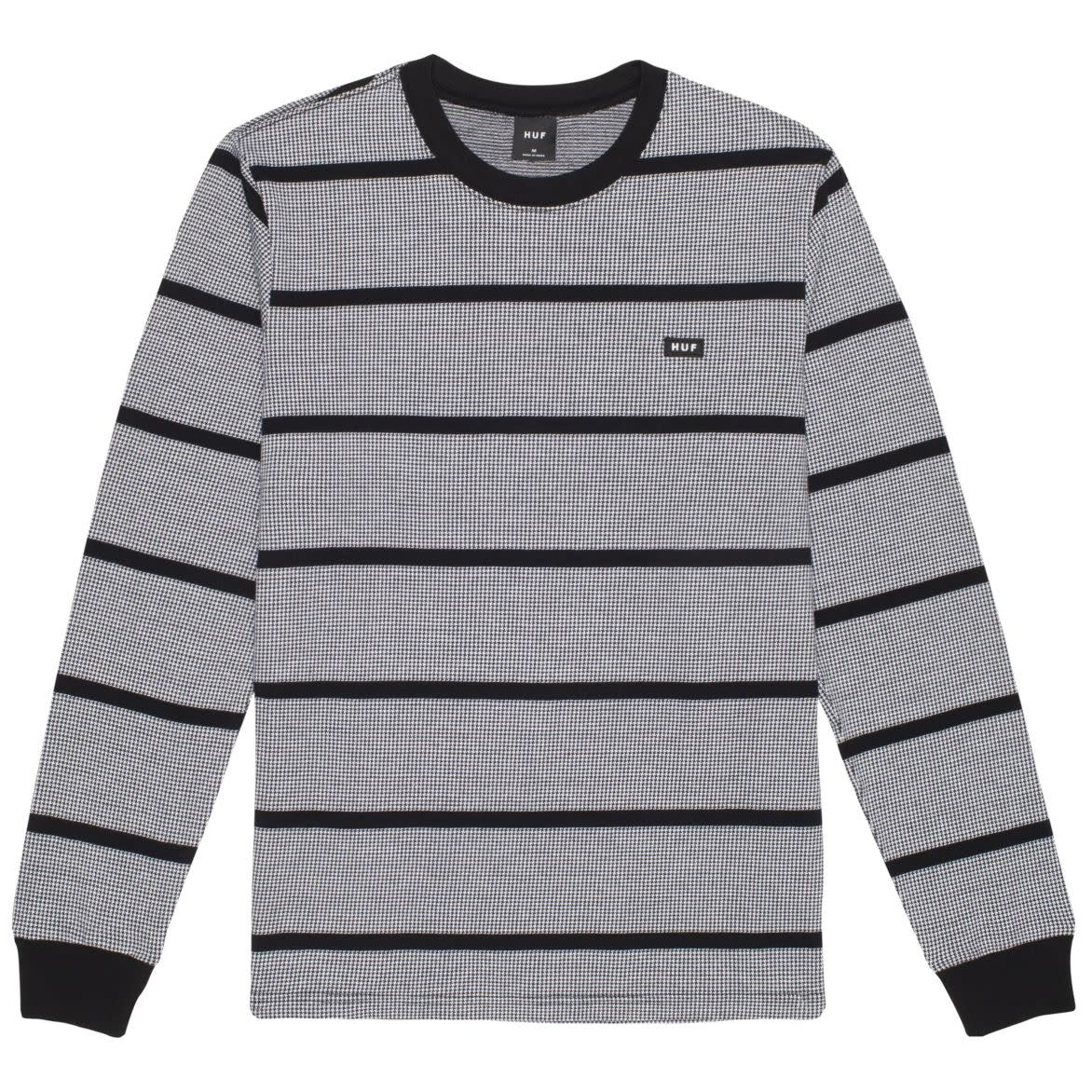 HUF Houndstooth Stripe L/S Knit Black