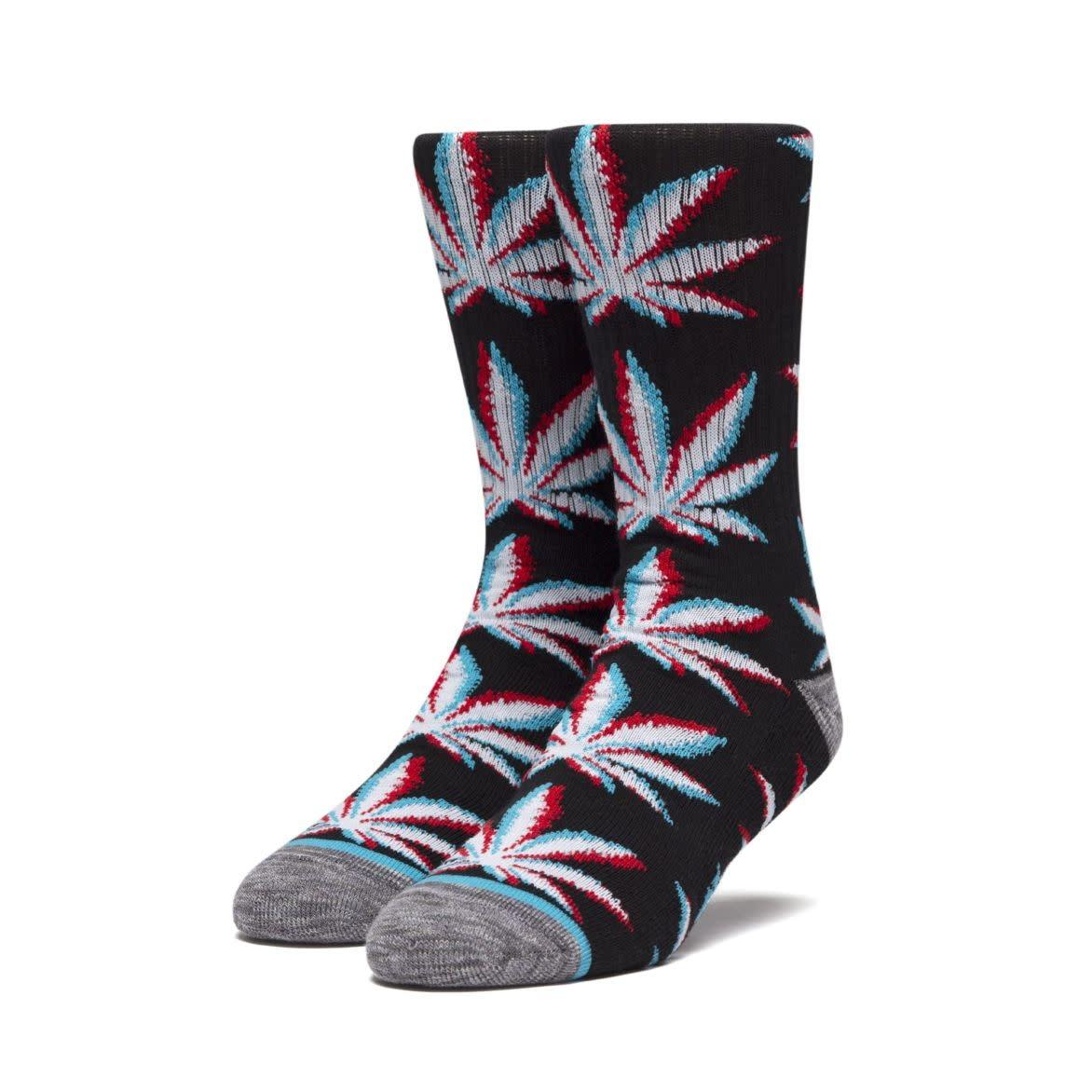 HUF Static Plantlife Sock Black