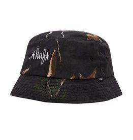 HUF Real Tree Bucket Hat S/M Black