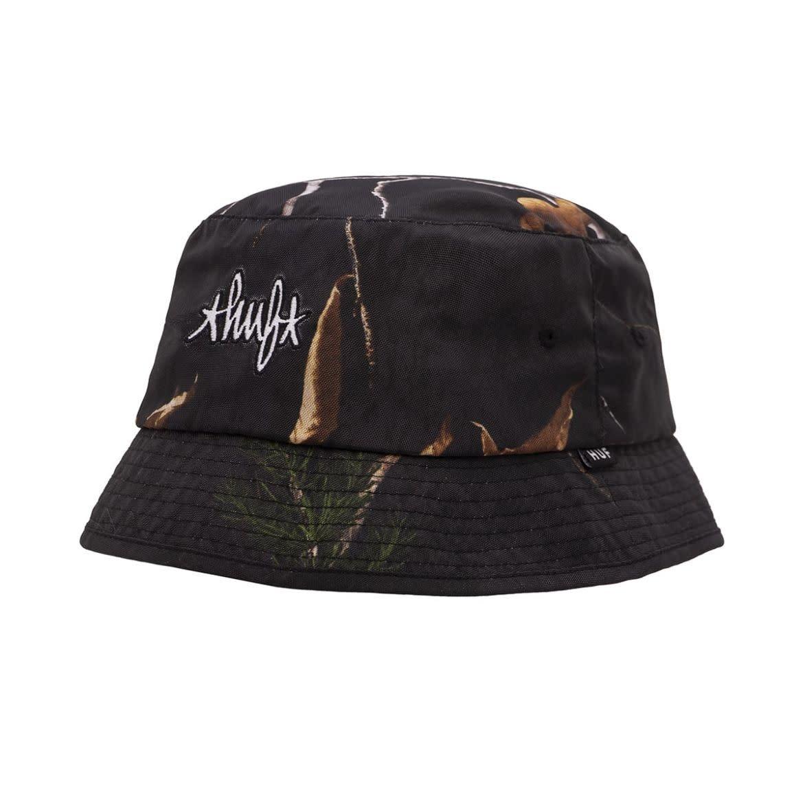 HUF Real Tree Bucket Hat S/M Black