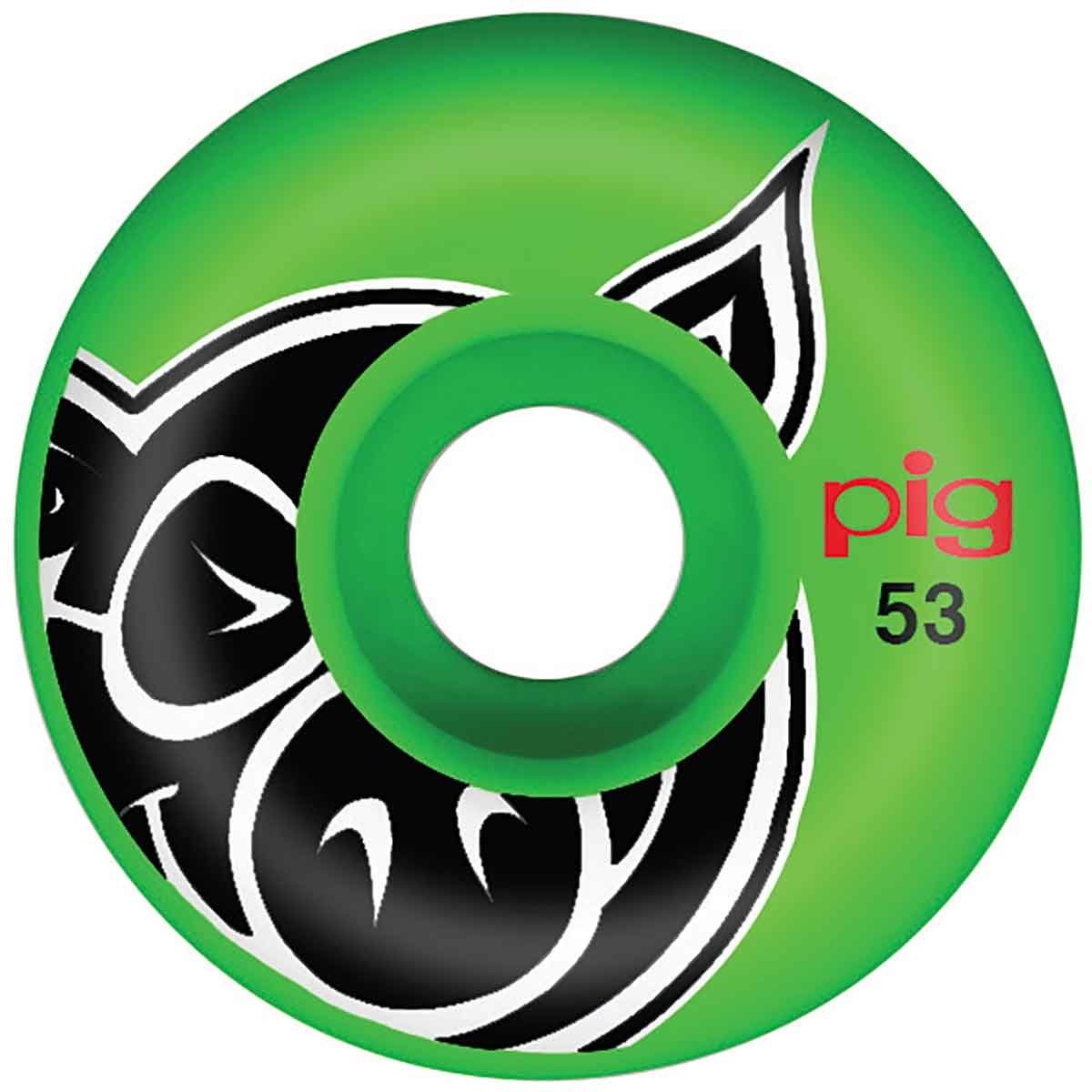 Pig Wheels Pig Head Green Proline 53mm