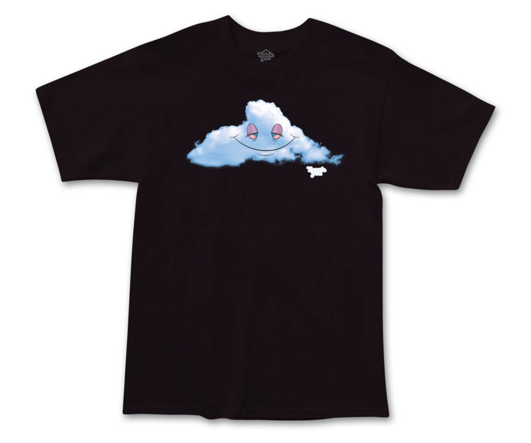 Thank You Head in the Clouds Black Tee