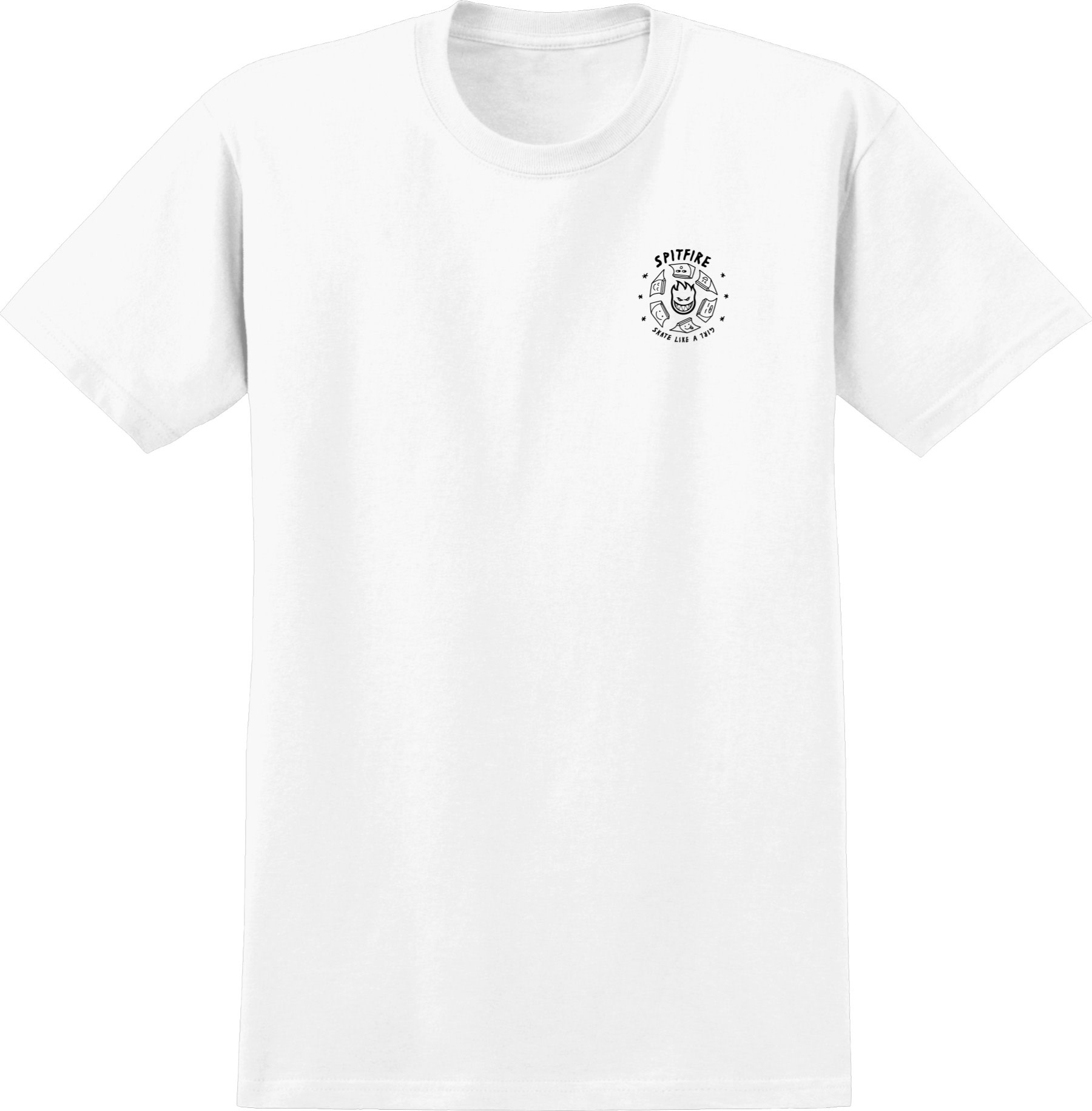Spitfire Wheels Skate Like A Girl Fade Tee White