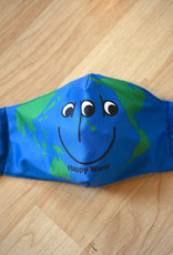 APB Skateshop Happy World Face Mask Blue