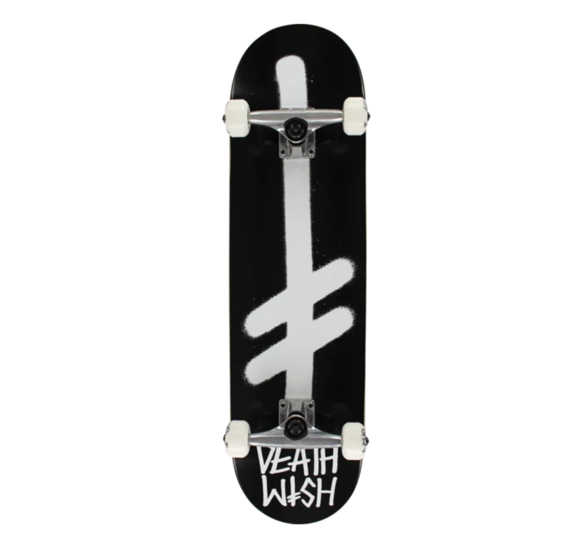 "Deathwish Skateboards Gang Logo Black/White Complete 8.25"""