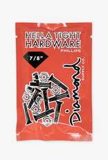 "Diamond Supply Company, Inc Diamond Hella Tight Hardware Silver 7/8"" Phillips"