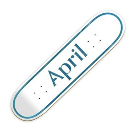 April Skateboards April OG White/Blue 8.0