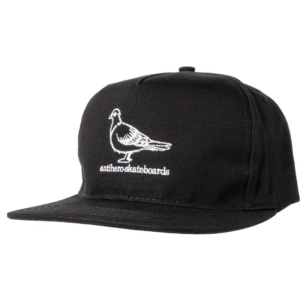 Anti Hero Basic Pigeon Snapback Black/White