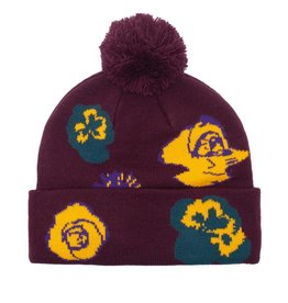 Fucking Awesome Botanical Ball Beanie Maroon