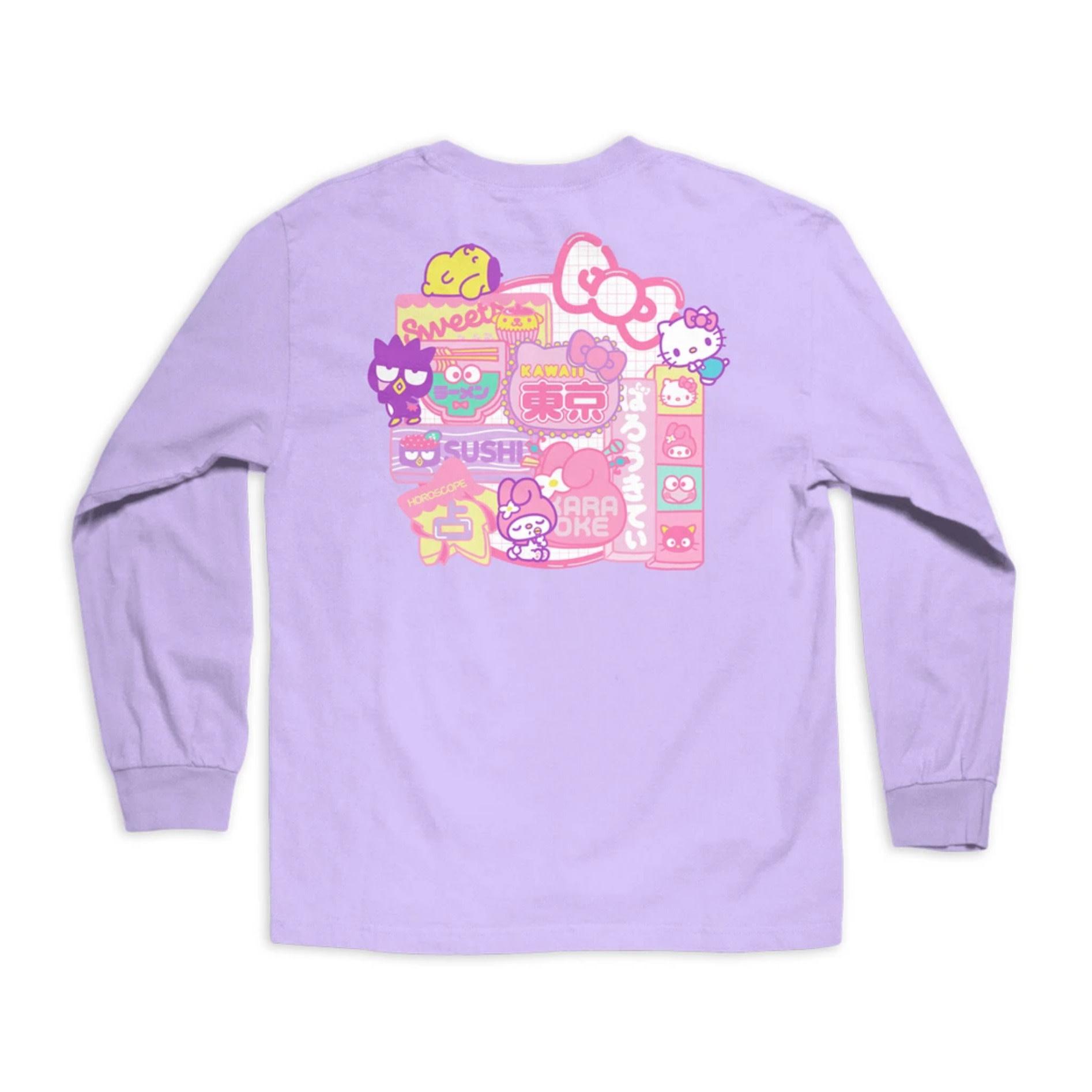 Girl Sanrio Restaurant Lavender L/S Tee