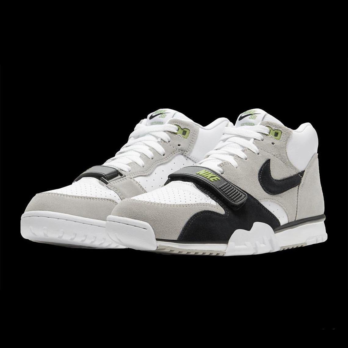 Nike USA, Inc. Nike SB Air Trainer 1 ISO Chlorophyll Grey/White