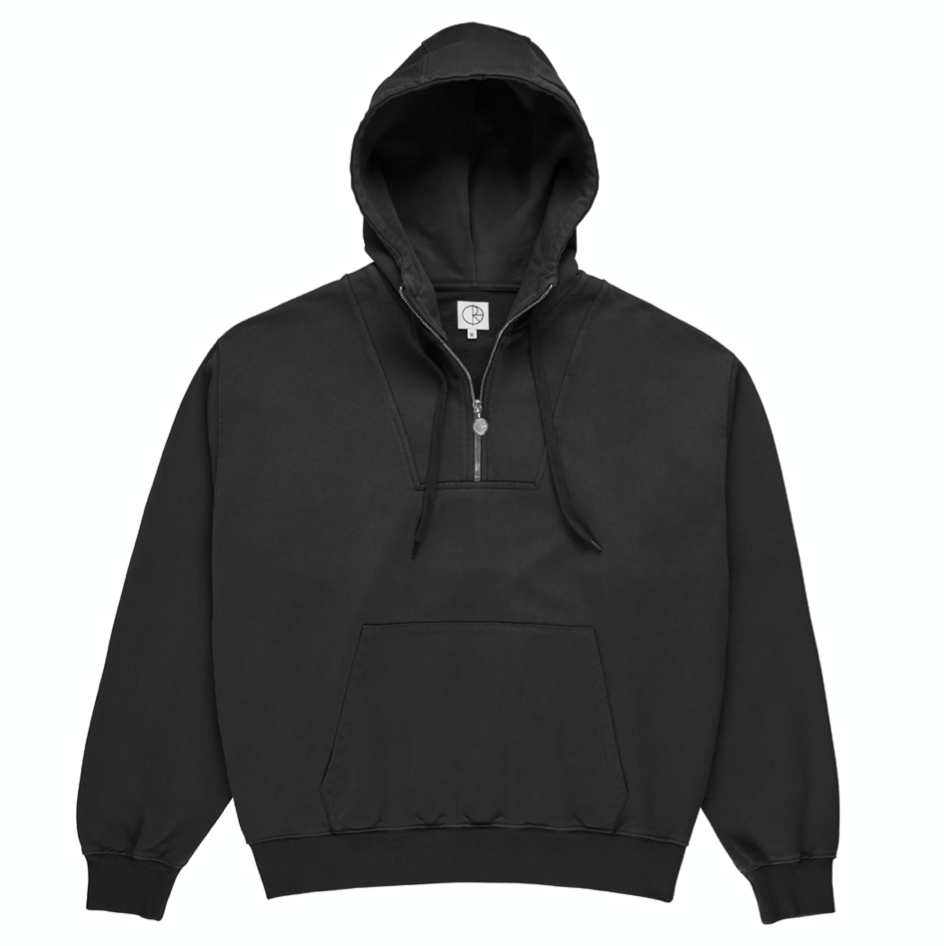 Polar Skate Co. Half Zip Hoodie Black