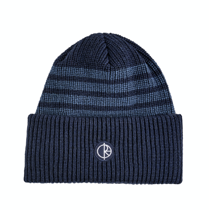 Polar Skate Co. Double Fold Merino Beanie Navy Stripe