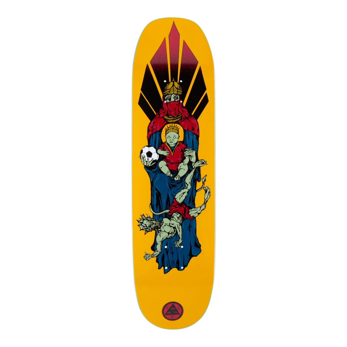 "Welcome Skateboards Futbol on Moontrimmer 2.0 8.5"" Gold"