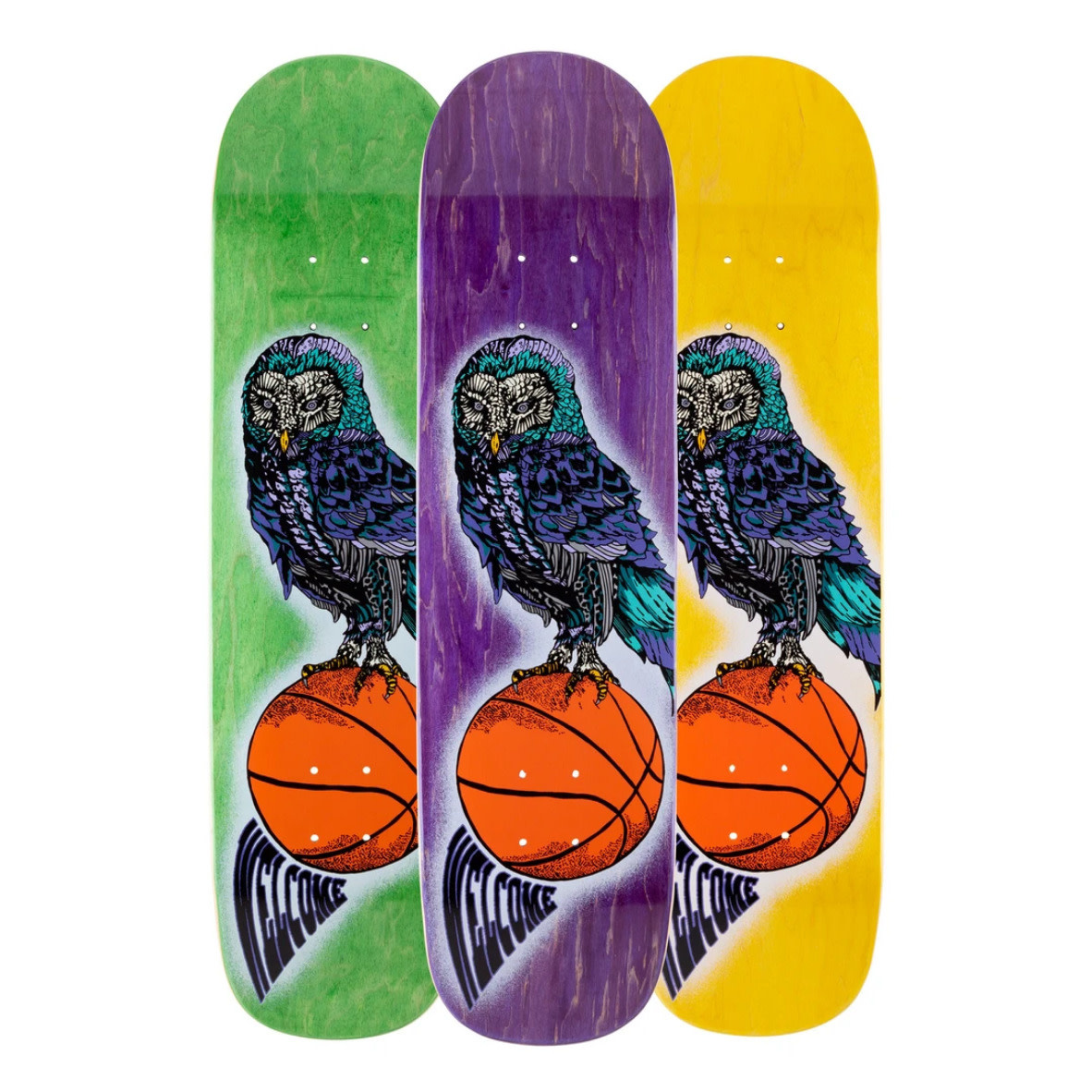"""Welcome Skateboards Hooter Shooter on Bunyip 8.0"""" Various Stains"""