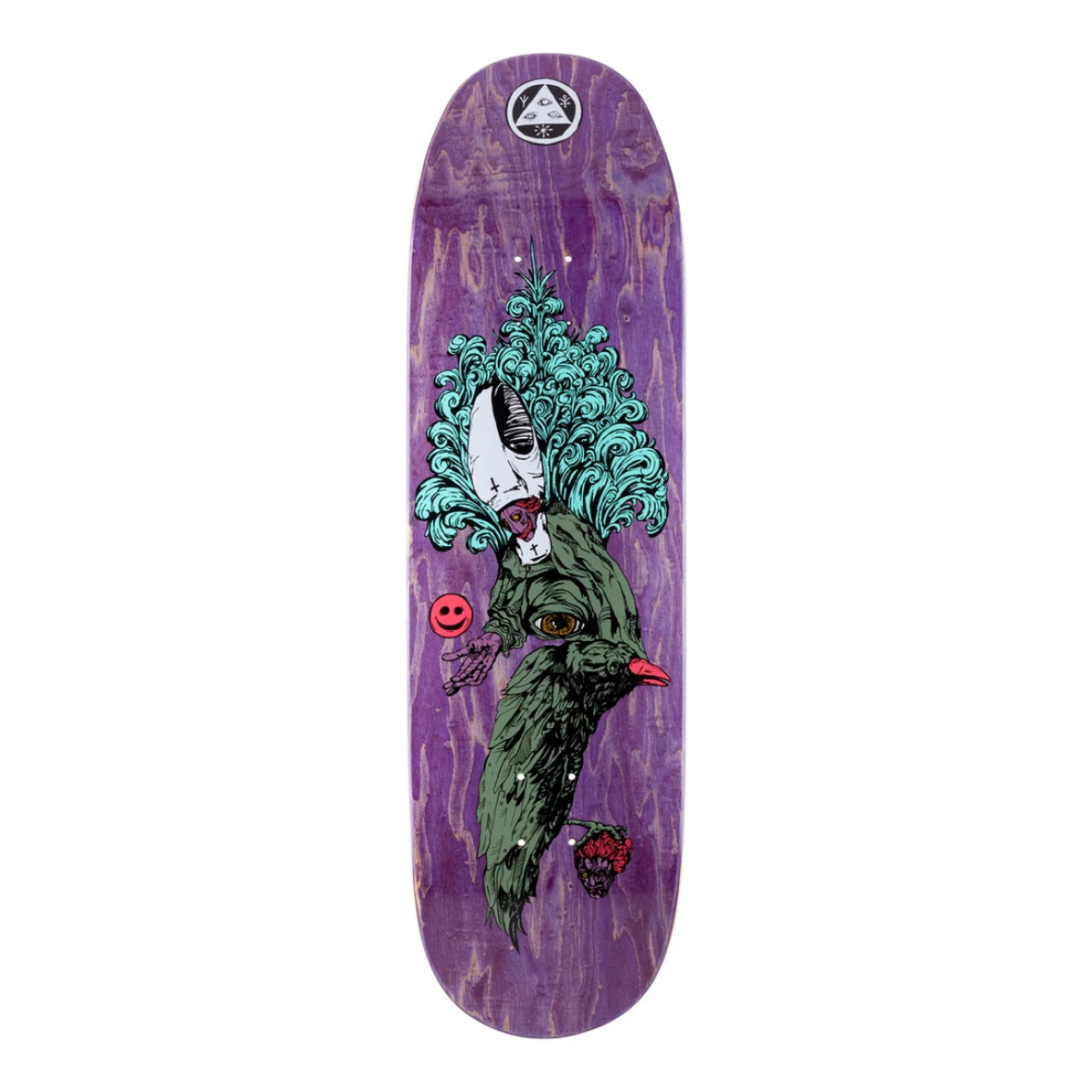 """Welcome Skateboards Tonight I'm Yours on Baculus 2.0 9.0"""" Purple Stain"""