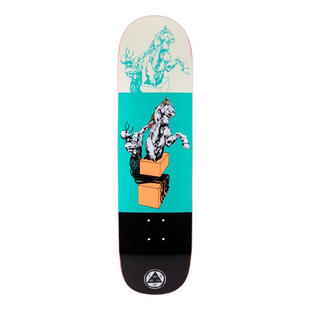 "Welcome Skateboards Hierophant on Big Bunyip 8.5"" Teal/Black"