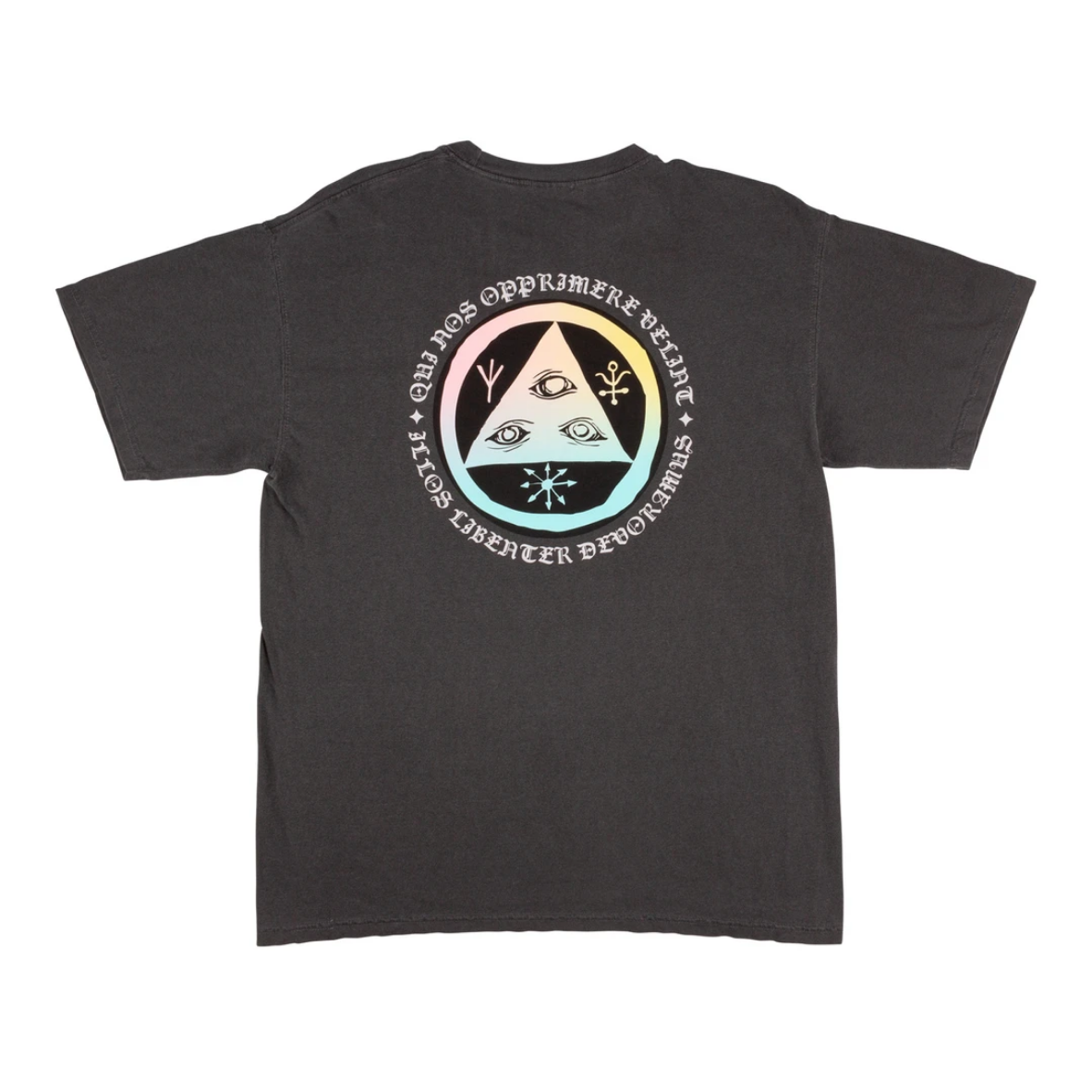 Welcome Skateboards Latin Tali 2 Garment-Dyed Tee Pepper/Prism