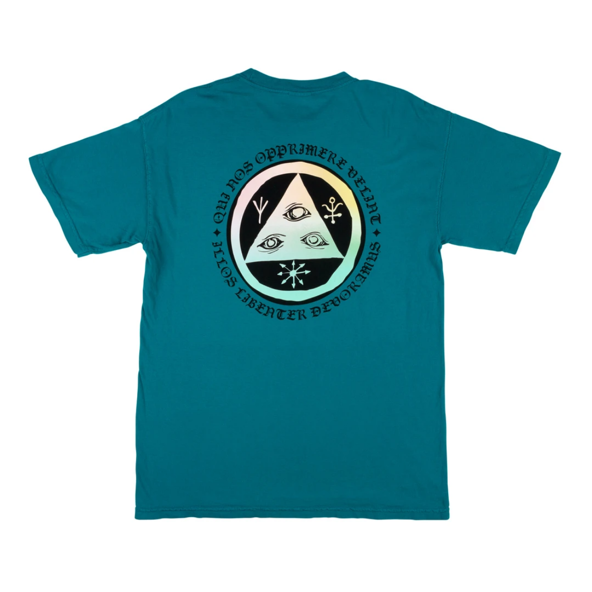 Welcome Skateboards Latin Tali 2 Garment-Dyed Tee Topaz/Prism